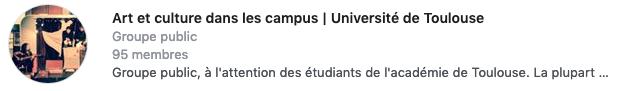 groupe facebook UFTMP : Art et culture dans les campus